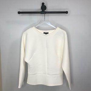 Kenneth Cole Vanilla White Sweater Top Size Medium